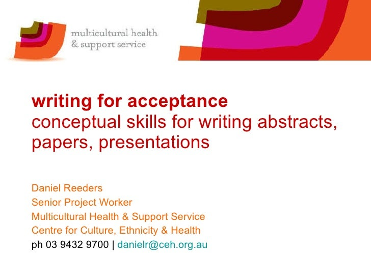 Writing Abstracts and Developing Posters for National Meetings