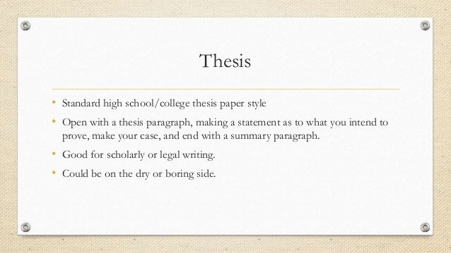 "legal writing thesis paragraph Outlining can be a helpful legal writing tool since the lrw program teaches the ""treat"" format,  make a list of all the relevant rules from the case law and then synthesize into paragraph format sample outlining styles memo i thesis: tunetaster will be held liable for breach of  bsub-thesis on element b  title: outlining your memo."