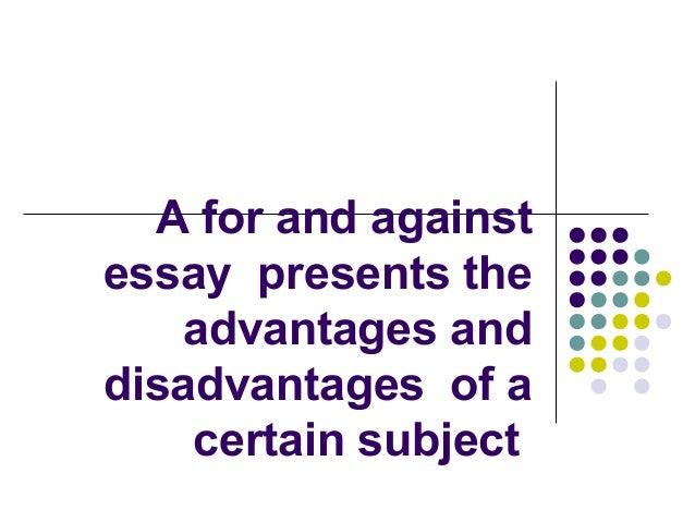 a for and aga focus on writing for and against essay 2