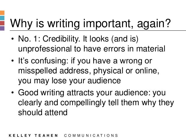 Why is it important to write