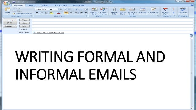 writing formal and informal emails m van eijk