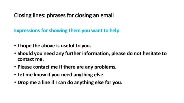 email closing lines thank you
