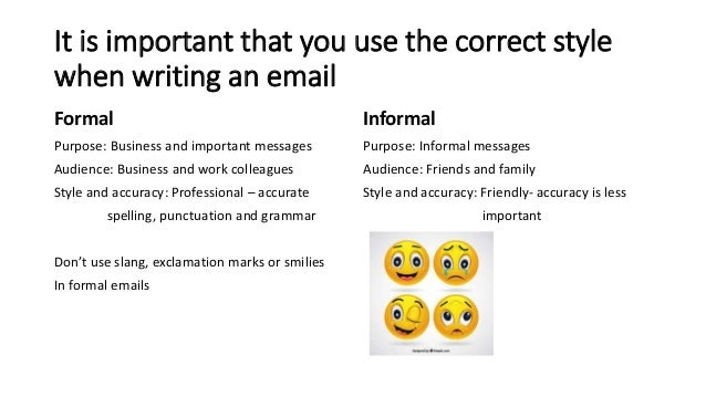 writing formal and informal emails 2