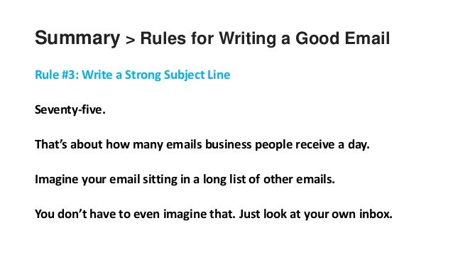 21 summary rules for writing a good email