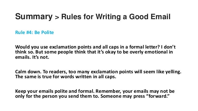 Using Exclamation Points In Emails