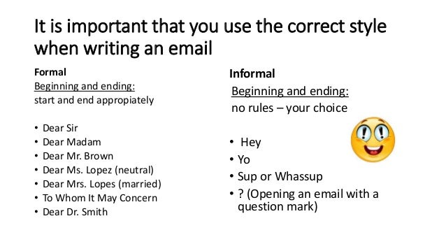 Writing formal and informal emails m van eijk spiritdancerdesigns Gallery