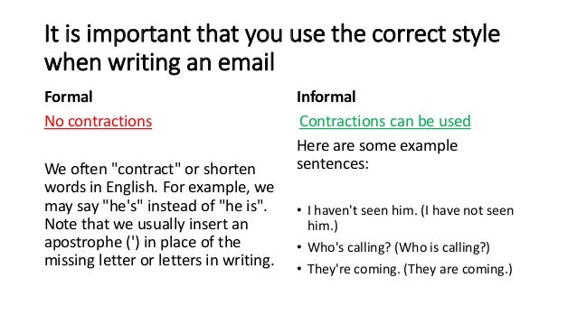 formal email example writing formal and informal emails m eijk 15368 | writing formal and informal emails m van eijk 4 638