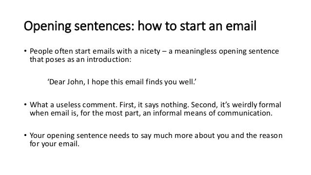 Writing formal and informal emails m van eijk opening sentences m4hsunfo