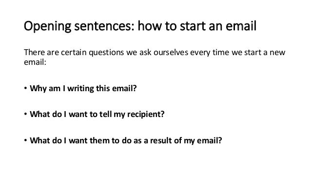 how to start a formal email