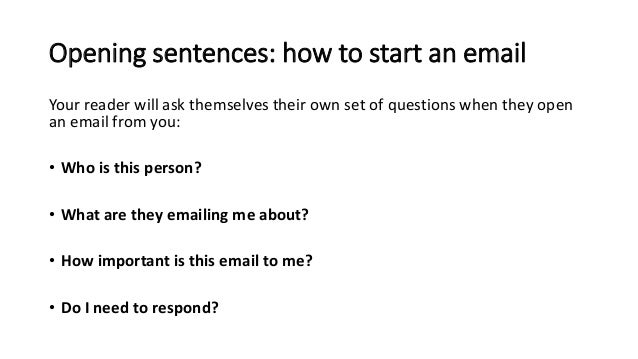 how to ask in email