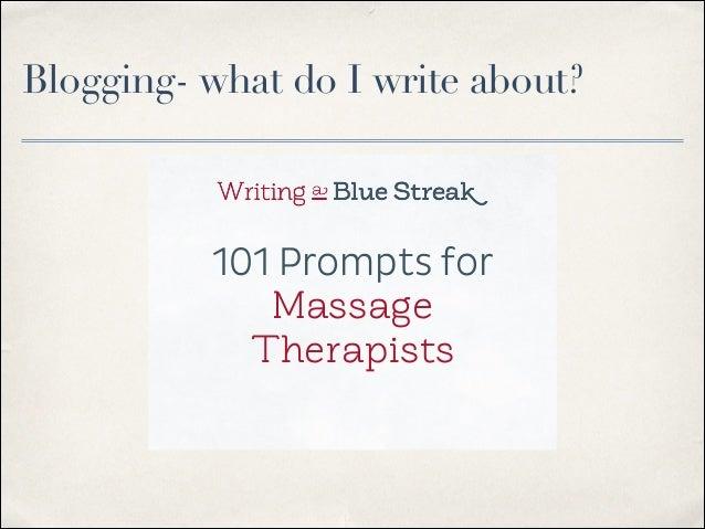 Write a massage