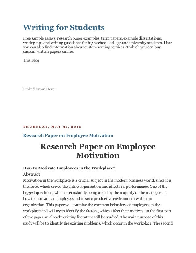 Writing for StudentsFree sample essays, research paper examples, term papers, example dissertations,writing tips and writi...