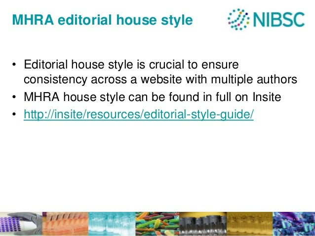 Mhra style guide website
