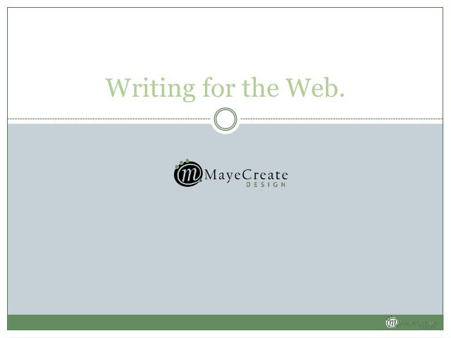Writing for the Web.