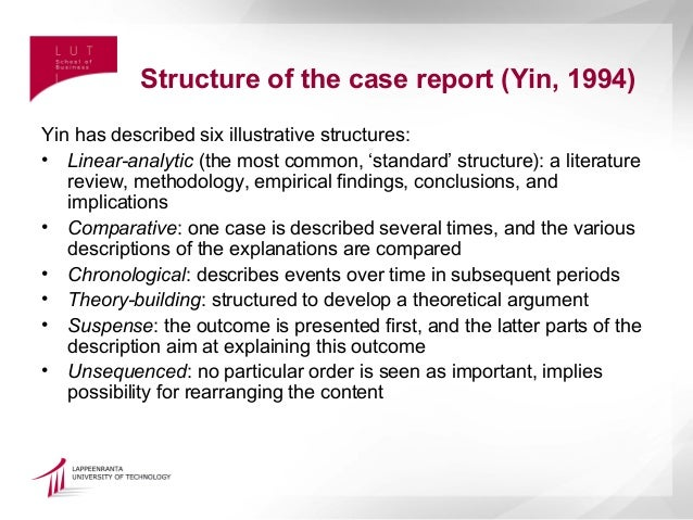 structure of case study report