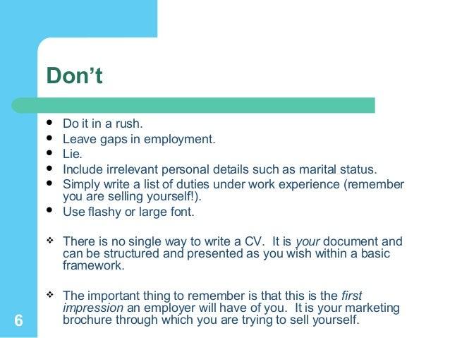SlideShare  Gaps In Employment