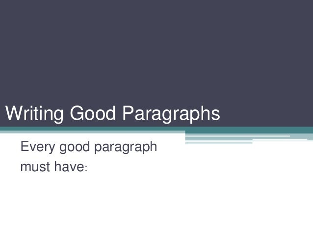 parts of a paragraph powerpoint
