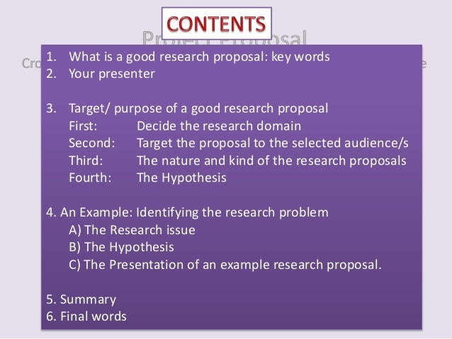 write good proposal essay