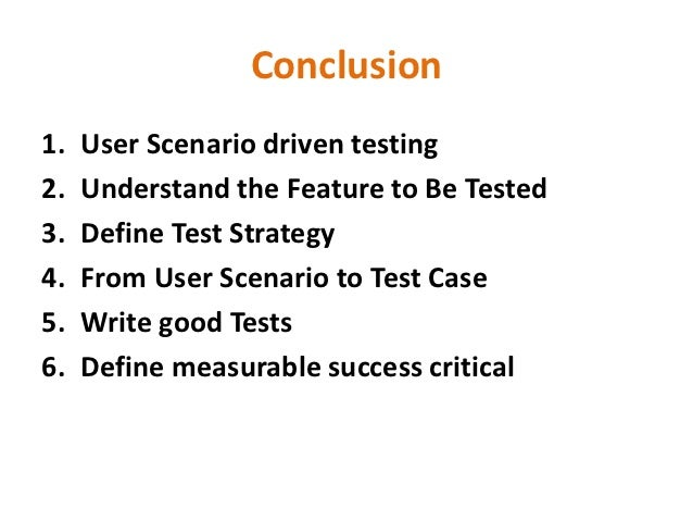 How to write a test scenario definition