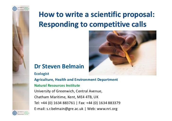Sample Grant Proposals