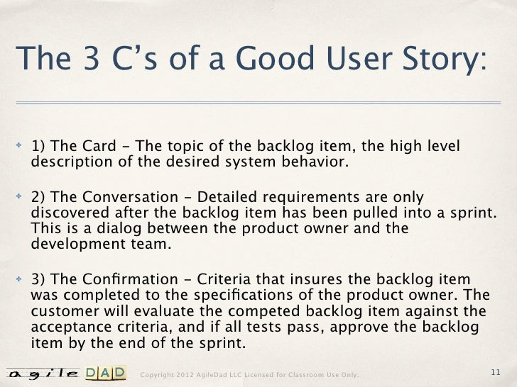 Writing GREAT Agile User Stories