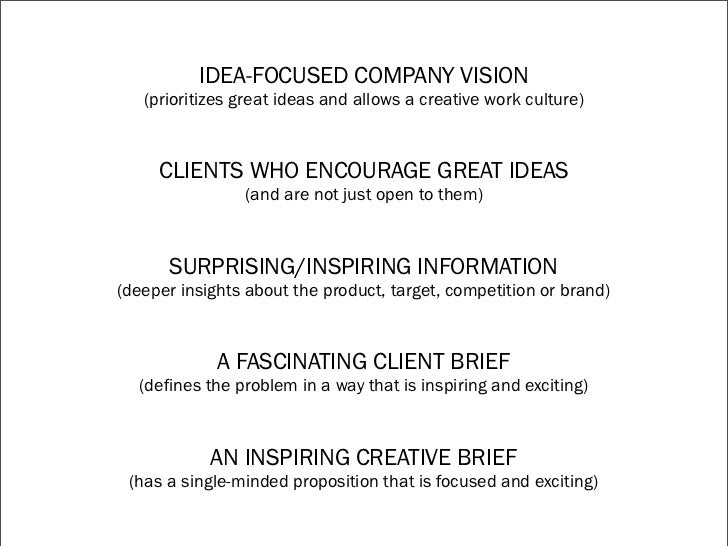 writing great creative briefs How to write a great creative brief – and inspire great brand design our ability to provide great creative how to write a great creative brief – and.