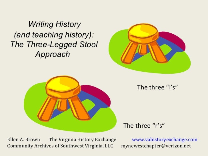 Writing History  (and teaching history): The Three-Legged Stool        Approach                                           ...