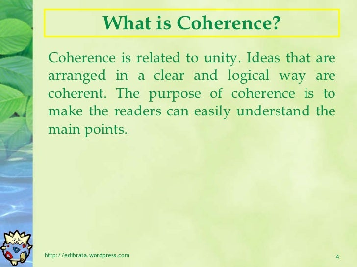 Essay Writing (Unity and Coherence)