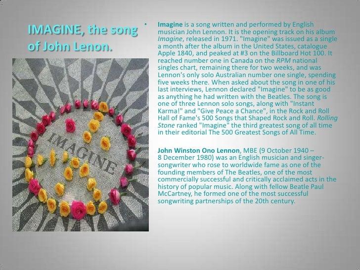 Imagine by John Lennon Slide 2