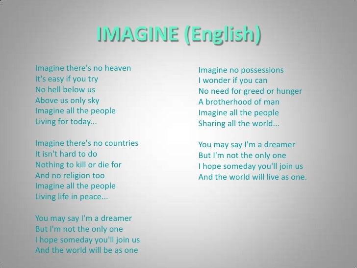 Imagine by John Lennon Slide 3