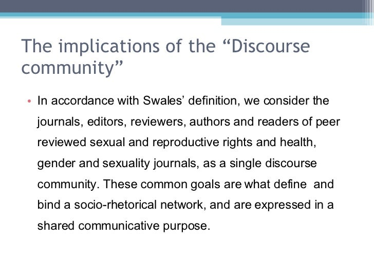 What is a Discourse Community?