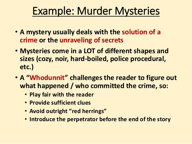how to write a mystery story opening
