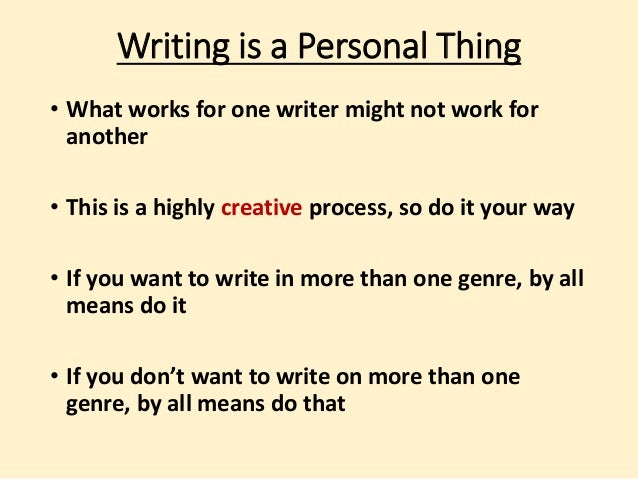 Writing In Different Genres Why Why Not And How To