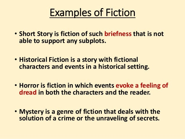 fiction short story examples