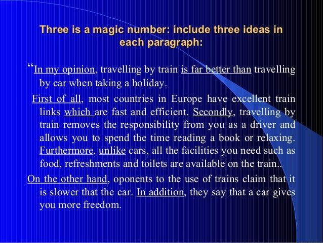 The magic show essay format