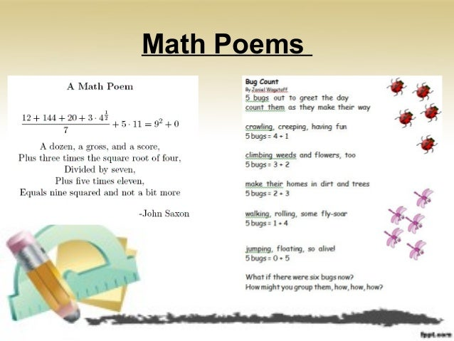 Writing in math examples