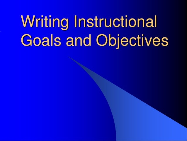 One page essay on educational goals and objectives samples