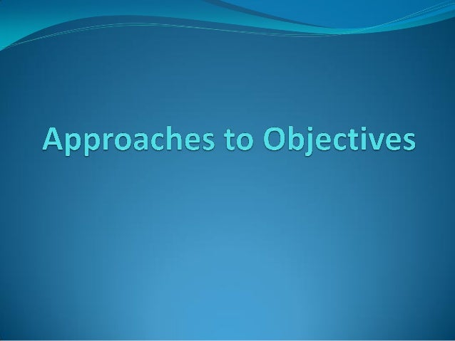 mager approach of writing instructional objectives with examples