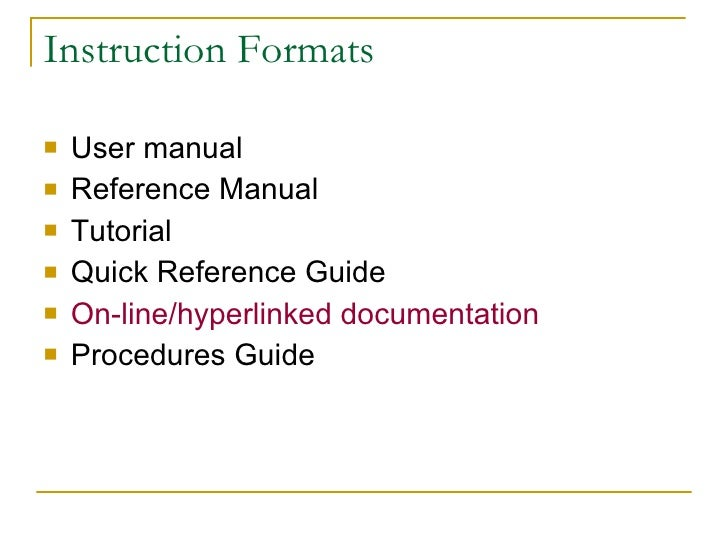 guide to writing a user manual