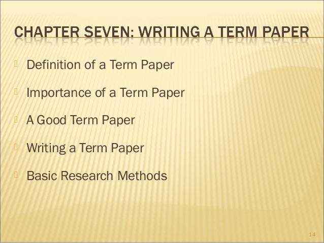 importance of writing a term paper
