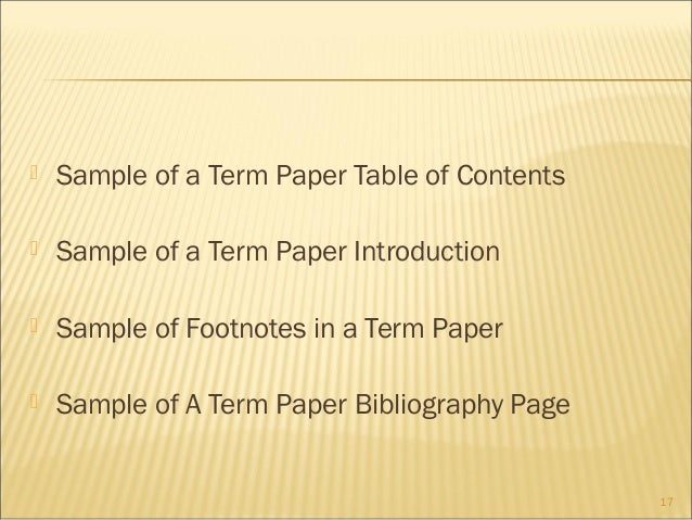 footnotes in term paper Use kate turabian's a manual for writers of term papers, theses, and dissertations (15th edition) (footnotes) or at the end of the paper as a whole (endnotes.