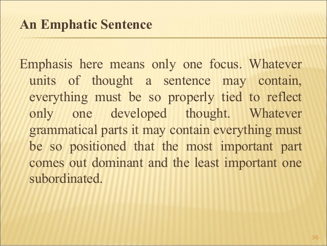 emphatic writing definition