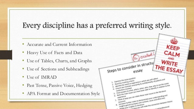 writing in the disciplines E-ssentials article with strategies strategies for discipline-specific writing, writing  to learn, on-demand writing, writing to explain thinking, writing to summarize,.