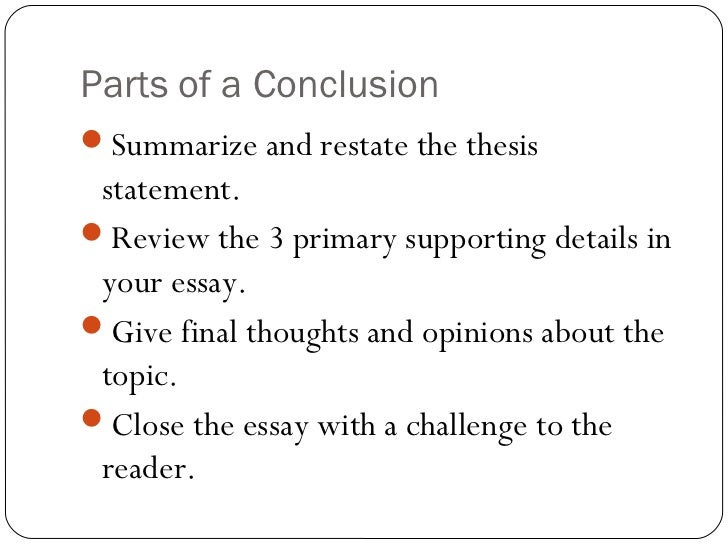 how to write a conclusion to essay