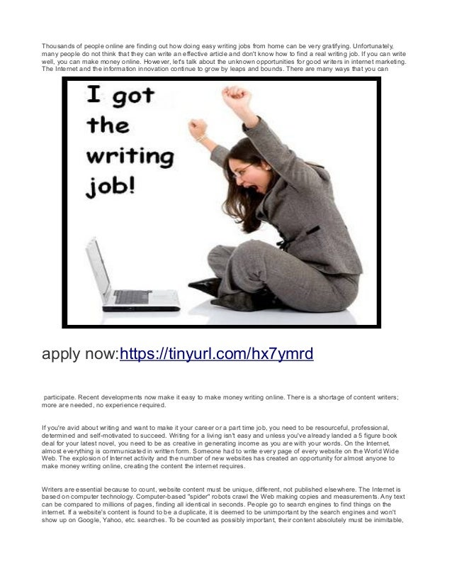 writing jobs work at home earn daily  2 thousands of people online are finding out how doing easy writing jobs