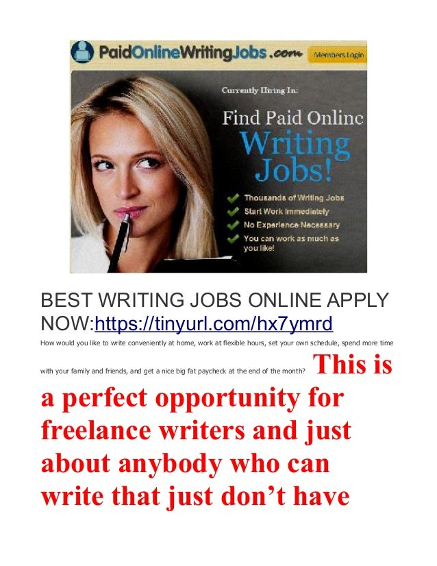 writing jobs work at home earn daily 7 best writing jobs online