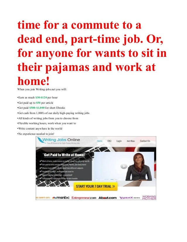 writing jobs work at home earn daily  8 time for