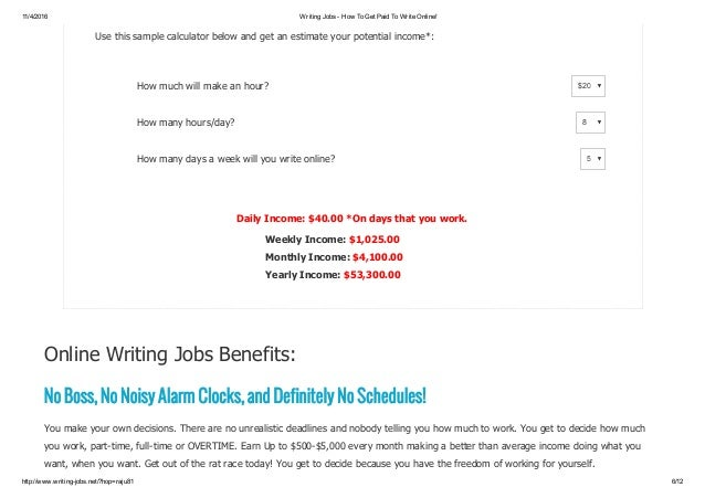 writing online jobs fom home earn per day live support 6