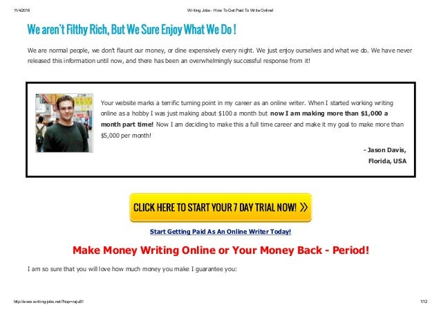 writing online jobs fom home earn per day live support 7 11 4 2016 writing jobs