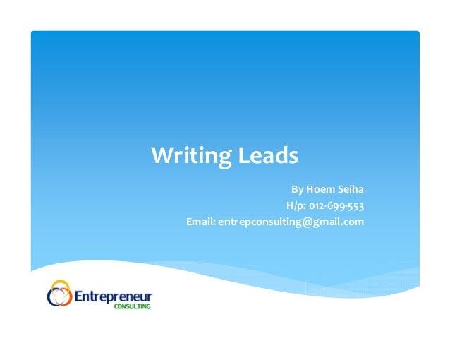 lead essays